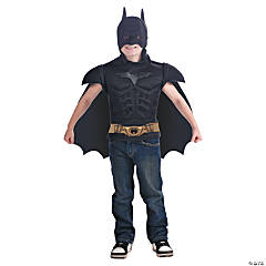 Batman Muscle Shirt with Cape for Child Boys