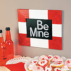 Be Mine Chalkboard Frame Idea