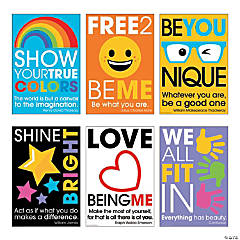 Be You Motivational Poster Set