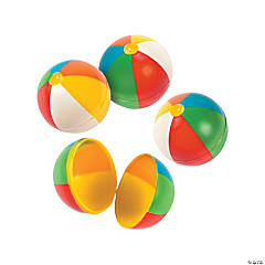Beach Ball Plastic Easter Eggs - 12 Pc.