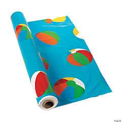 Beach Ball Plastic Tablecloth Roll
