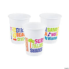 Beach Bum Disposable Cups