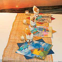 Beach Scene Placemats, Pails & Place Cards Idea