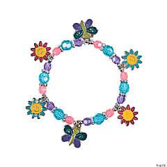 Beaded Butterfly & Daisy Charm Bracelet Craft Kit