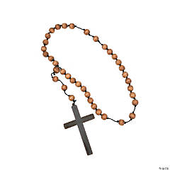 Beaded Necklace with Monk Cross