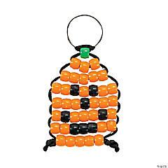 Beaded Pumpkin Keychain Craft Kit