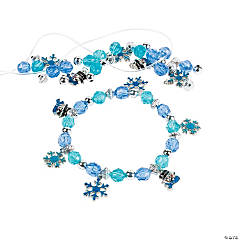 Beaded Snowflake Charm Bracelet Craft Kit