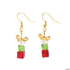 Beaded Stack of Presents Earrings Craft Kit