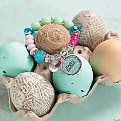 Beaded Stretchy Easter Bracelet Idea