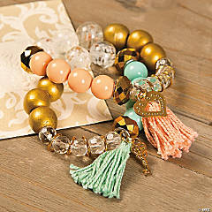 Beaded Tassel Bracelet Idea
