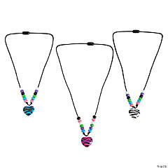 Beaded Zebra Necklace Craft Kit