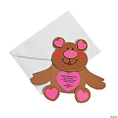 Bear Hug Valentine Cards Craft Kit