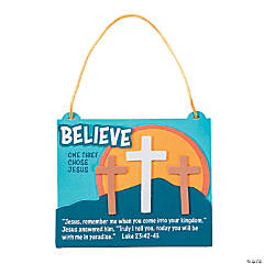 Believe 3 Crosses Sign Craft Kit