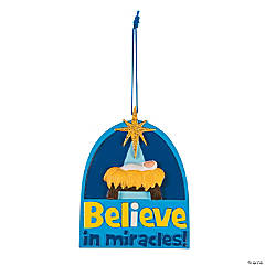 Believe Miracles Christmas Ornaments