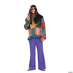 Bell Bottom Pants Purple Adult Men's Costume