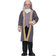 Ben Franklin Child 8-10 Costume For Boys