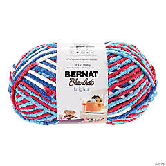 Bernat Blanket Big Ball- Red, White & Boom
