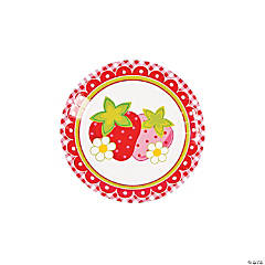 Berry 1st Birthday Dessert Plates