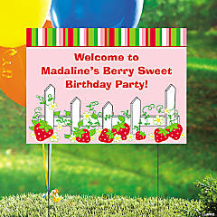 Berry 1st Birthday Personalized Yard Sign