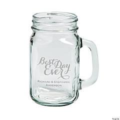 Best Day Ever Mason Jar Personalized Glass Mugs
