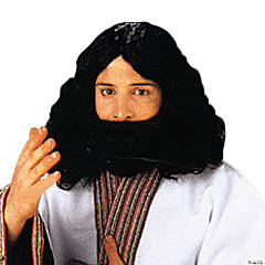 Biblical Beard & Wig - Black