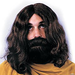 Biblical Beard & Wig - Brown