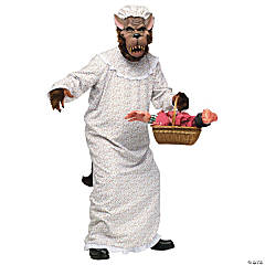Big Bad Granny Wolf Costume for Adults