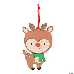 Big Head Reindeer Ornament Craft Kit