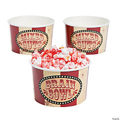Big Top Terror Snack Paper Bowls
