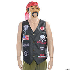 Biker Grab N Go Costume for Men