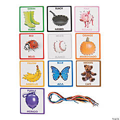 Bilingual Color Lacing Cards