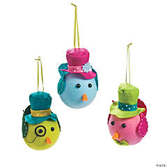 Bird Character Christmas Ornaments