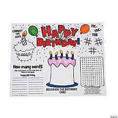 Birthday Activity Mats