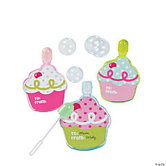 Birthday Bakery Cupcake Bubble Bottles
