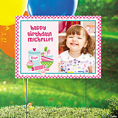 Birthday Bakery Custom Photo Yard Sign