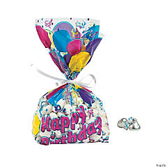 Birthday Balloon Goody Cellophane Bags