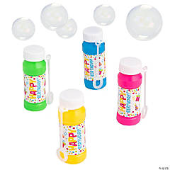 Birthday Bubble Bottles