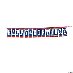 Birthday Cowboy Banner