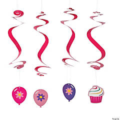 Birthday Cupcake Hanging Swirls