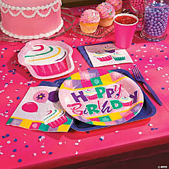 Birthday Cupcake Party Supplies