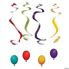 Birthday Fun Hanging Swirls