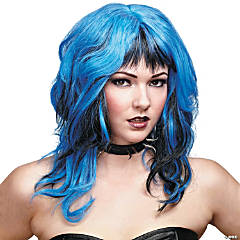 Black & Blue Hard Rockin Witch Wig