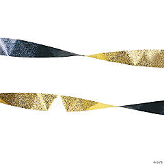 Black & Gold Foil Streamers