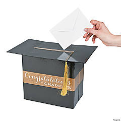 Black & Gold Graduation Card Box