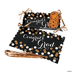 Black & Gold Graduation Cardboard Trays