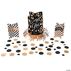 Black & Gold Graduation Table Decorating Kit
