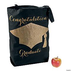 Black & Gold Graduation Tote Bag