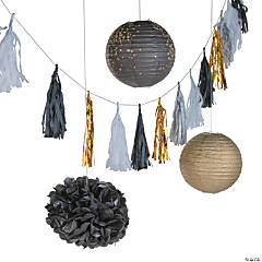 Black & Gold Hanging Décor Kit