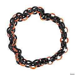 Black & Orange Chainmail Bracelet Kit