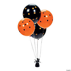 Black & Orange Polka Dot 11